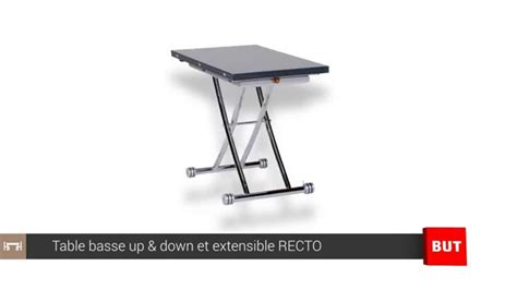 table basse relevable table basse relevable et extensible grise recto but