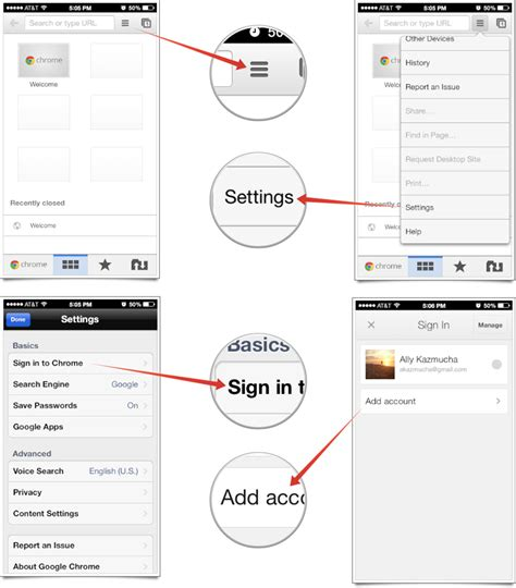 chrome sign in how to sign into your google account with chrome for ios