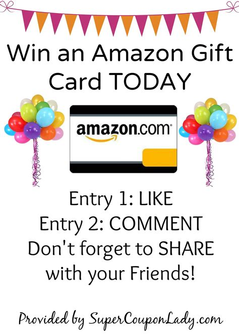 Gift Card Winner - the winner of the amazon gift card is super coupon lady