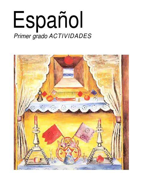 libros de texto gratuito de primaria downloadily docs libro de actividades espa 241 ol primer grado 1993 by paco el