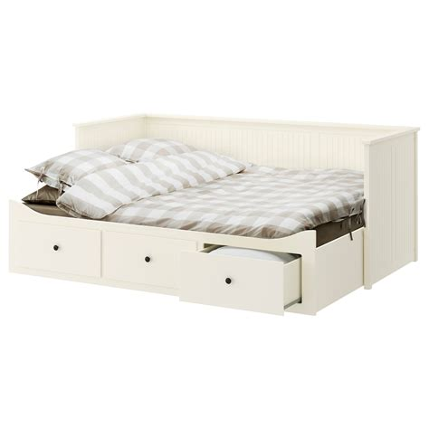 ikea day bed hemnes day bed w 3 drawers 2 mattresses white malfors