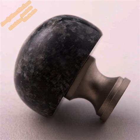 Fancy Cabinet Knobs by Impala Black Granite Cabinet Knob And Cupboard Door Knob