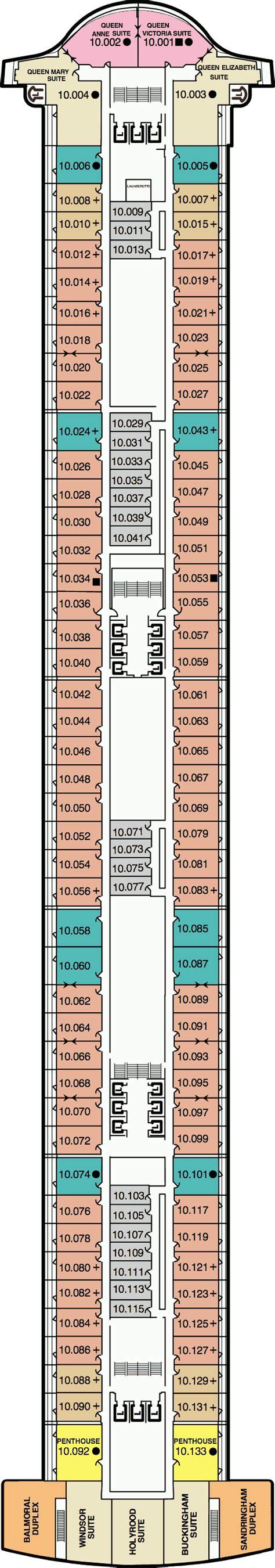cunard cabin layout 2 deck plans