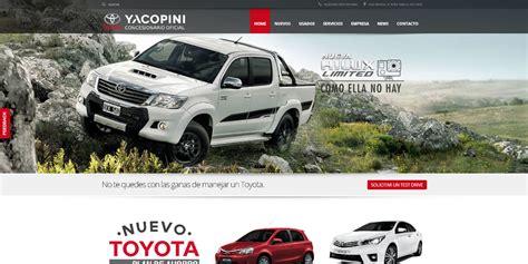 pagina oficial de toyota p 225 web toyota yacopini