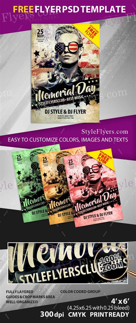 Memorial Day Free Psd Flyer Template Free Download 12022 Styleflyers Free Funeral Flyer Template Psd