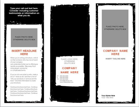 templates for brochures free word brochure template brochure template word