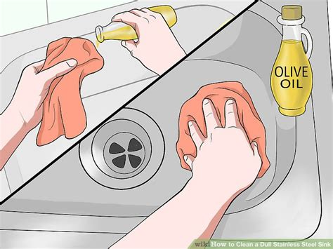how to disinfect stainless steel kitchen sink how to clean a dull stainless steel sink 14 steps with