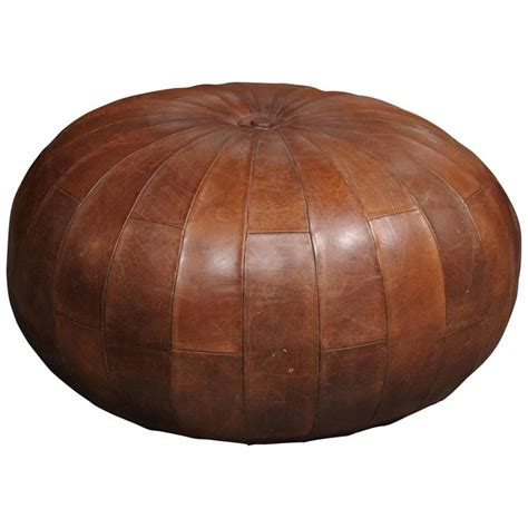 Ottomans And Poufs Leather Pouf Or Ottoman At 1stdibs
