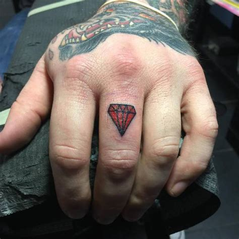 diamond finger tattoo 19 designs ideas design trends