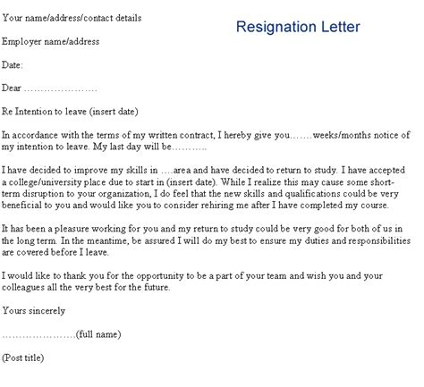 Great Letters Of Resignation by 8 Great Resignation Letter Invoice Template