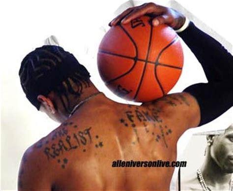 allen iverson tattoo allen iverson back tattoos tattoos