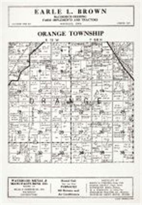 Black Hawk County Records Orange Township Atlas Black Hawk County 1939 Iowa Historical Map