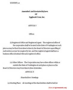 corporate bylaws template word doc 620395 constituting a constitution a sle set of