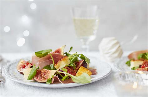 Summer Starters by Serrano Ham Halloumi And Fig Salad Tesco Real Food