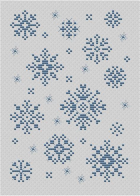 snowflake pattern cross stitch swirly snow by sue hillis cross stitch pinterest