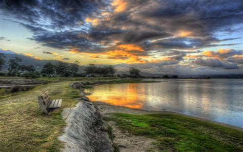 hdr photography bench nature wallpaper allwallpaperin