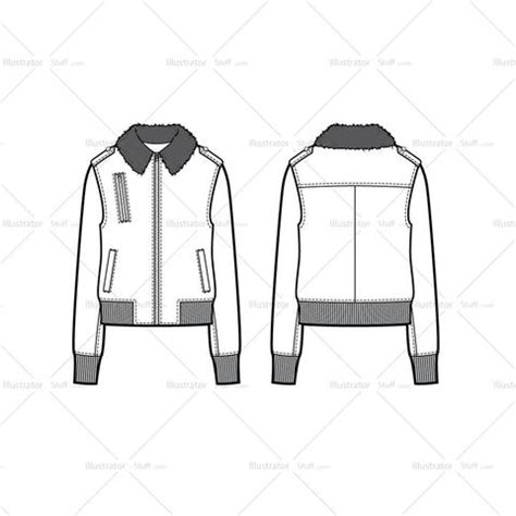 bomber jacket template trims findings page 5 illustrator stuff