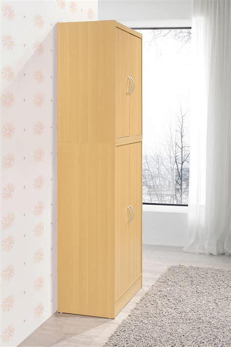 hodedah 4 door hodedah hi224 white 4 door kitchen pantry with four