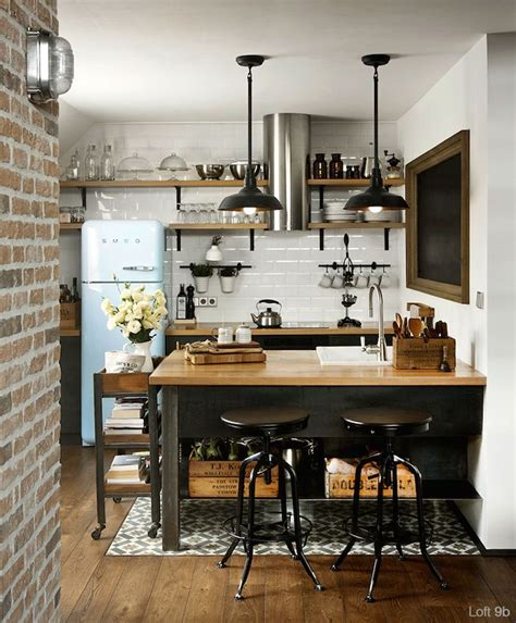 small industrial kitchen small industrial kitchen design layout with wood island