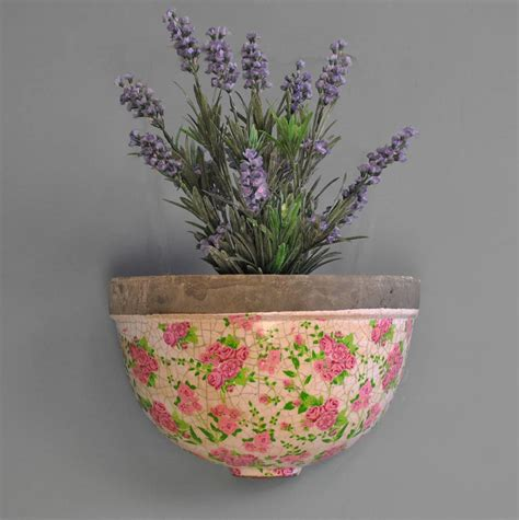 Pink Garden Planters by Pink Floral Wall Planter By Garden Selections