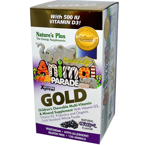 Vitamin Animal Parade Nature S Plus Source Of Animal Parade Gold