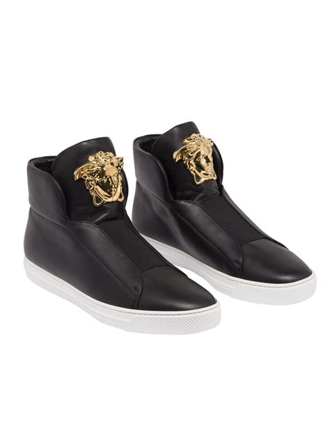 versace sneakers versace gianni versace sneakers in black leather with