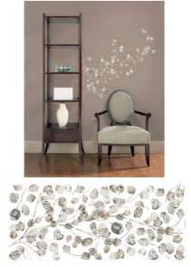 silver dollar branch giant wall stickers 3d diy silver mirror removable wall stickers home room