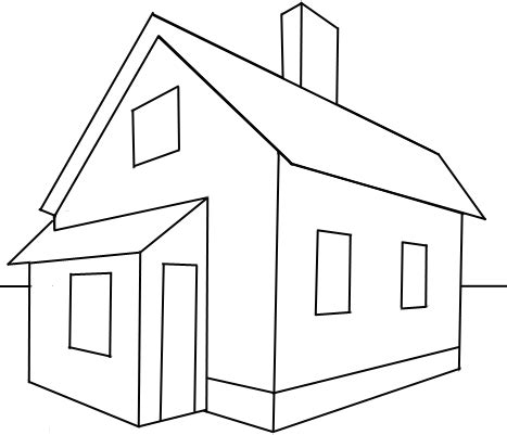 house to draw how to draw a house with easy 2 point perspective