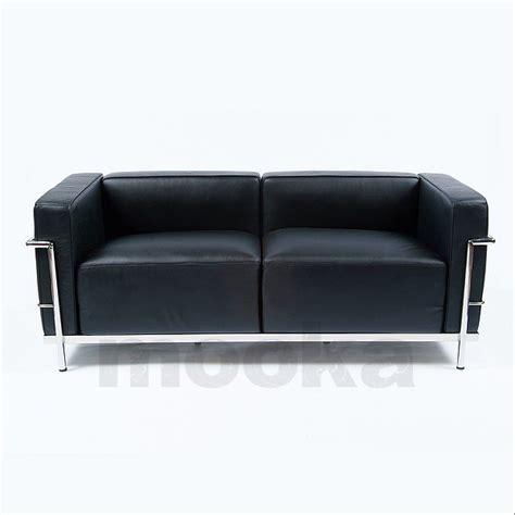 lc3 sofa le corbusier lc3 sofa 2 seater mooka modern furniture