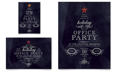 christmas invite wording for the office template office flyer ad template word publisher