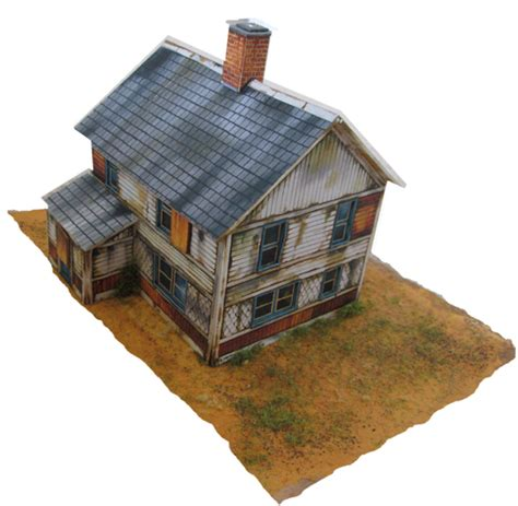 buying a derelict house print out scenery for your model railroad
