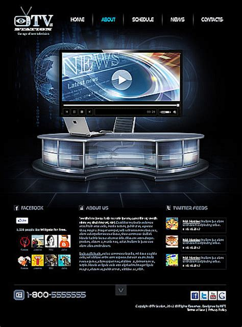 templates for radio website tv station html5 website template price 29 website