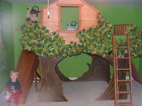 amazing boys tree house theme room traditional