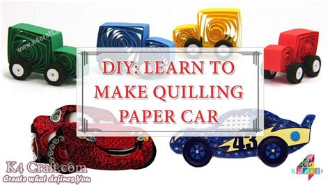 How To Make Paper Vehicles - diy how to make quilling quot paper cars quot at home paper