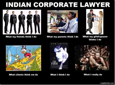 Lawyer Memes - friday fun what people think indian lawyers do versus
