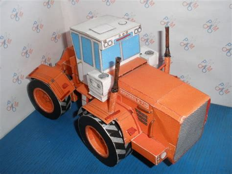 Origami Tractor - kirovets k 710 tractor free vehicle paper model