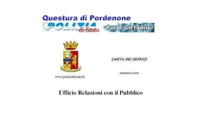 ufficio passaporti pordenone carta dei servizi