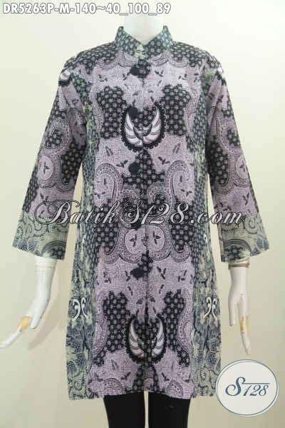 jual pakaian dress terusan motif klasik  elegan baju
