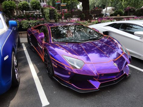 Lamborghini Aventador Dragon Edition Purple Wallpaper