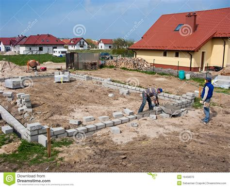 how to lay a foundation for a house laying house foundations stock photo image 19458370