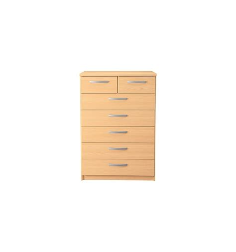 Beech Chest Drawers by Hallingford 5 2 Drawer Chest Beech Effect 3052079