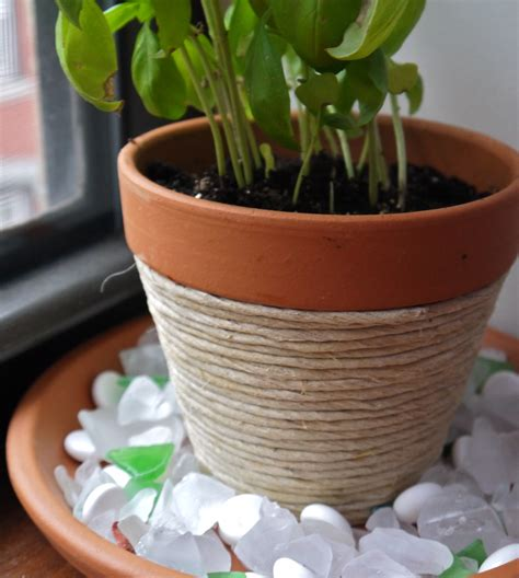 homemade flower pots diy beachy twine wrapped flower pot pumps iron