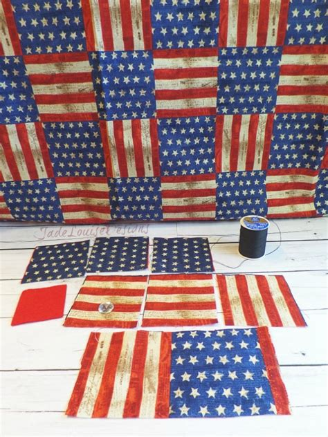 Patchwork Fabric Usa - boutique bows diy patriotic patchwork fabric posy headband