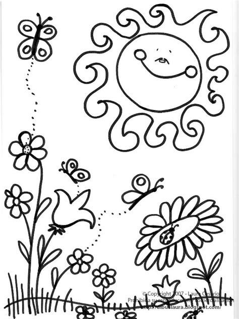 imagenes para colorear primavera dibujos para todo dibujos de la primavera