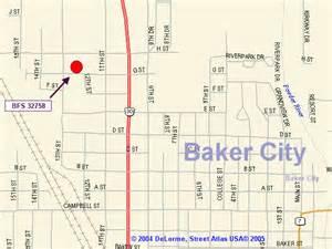 Baker City Oregon Map by Baker City Oregon Map