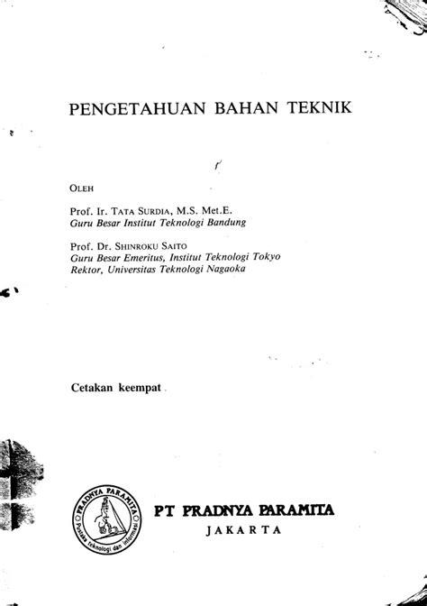 Pengetahuan Bahan Teknik 554 pengetahuan bahan teknik