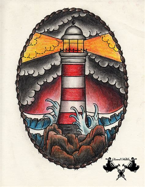 tattoo old school lighthouse tattoo flash lighthouse 03 by tausend nadeln on deviantart