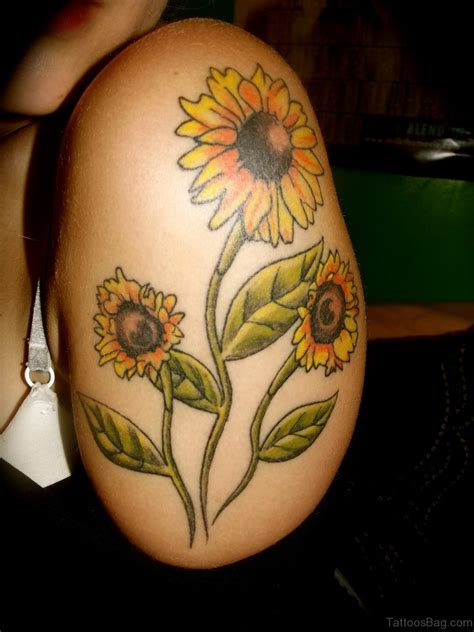 sunflower tattoo on shoulder 71 stunning sunflower tattoos on shoulder