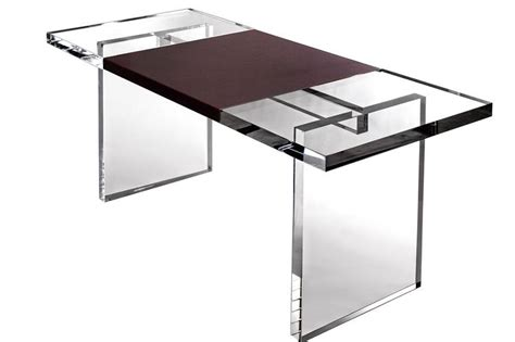 Wrap Desk by Plexi Craft Lucite Leather Wrap Desk Featured In The Wall