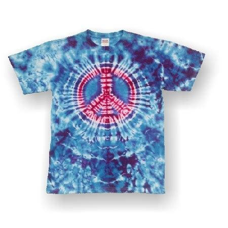 Handmade Tie Dye Shirts - handmade tie dye sleeve t shirt peace sign